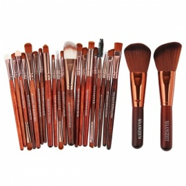 MAANGE 22Pcs Professional Cosmetic Make-Up Set di spazzole-alzarsi aureo tubo