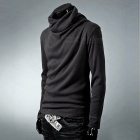 Stylish Men's Casual Slim Long-sleeved T-shirt Blouse - Dark Gray (XL)