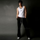 Men's Sports Casual Comfortable Trousers Wide Leg Pants for Jogging / Daily Wear - Black (XXL)