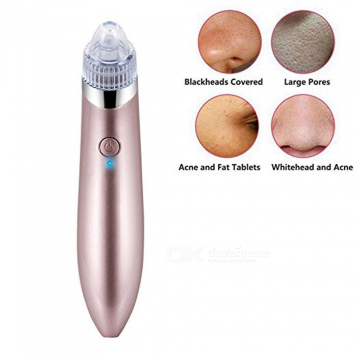 ZHAOYAO Handheld Electric Blackhead Acne Remover Facial Cleansing Instrument - Pink