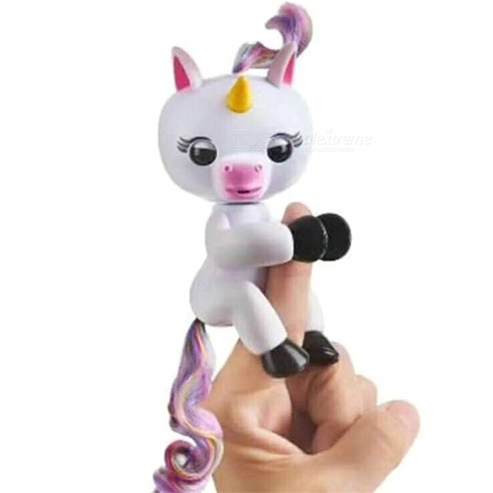 Funny Fingerlings Interactive Unicorn Monkey Mini Smart Cute Baby Gifts for Kids Birthday Halloween ChristmasFinger Toys<br>Form  ColorWhite UnicornModelN/AMaterialABSQuantity1 pieceSuitable Age 3-4 years,5-7 years,8-11 years,12-15 years,Grown upsPacking List1 x Toy<br>