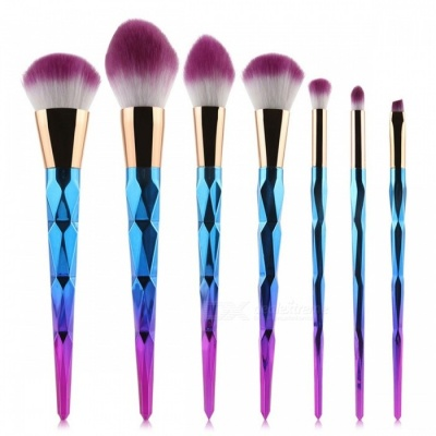 MAANGE 10Pcs Makeup Brushes Set - Diamond Rainbow Handle