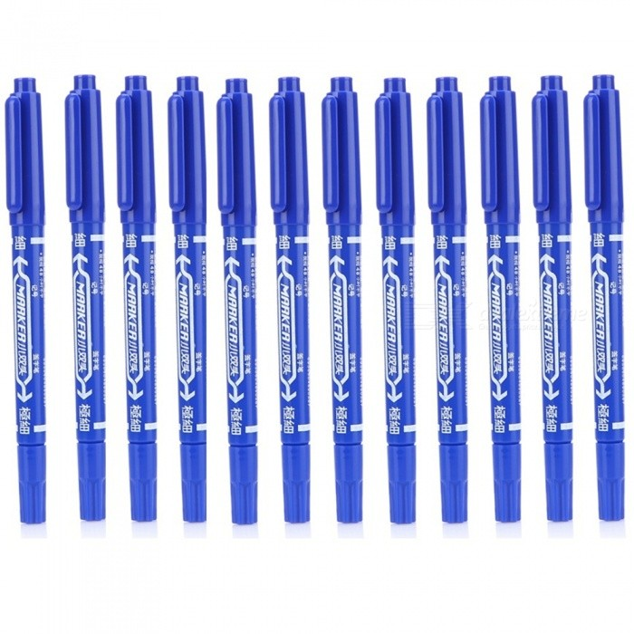 89170 Mark Painting Small Permanent Pen - Blue (12 PCS)Markers<br>Form  ColorBlueModel89170MaterialPlasticQuantity12 DX.PCM.Model.AttributeModel.UnitRefill ColorBlack,BluePacking List12 x 89170 Permanent Pens<br>