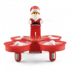 JJRC H67 Flying Santa Claus 2.4G 4CH 6-Axis RC Quadcopter with Headless Mode - Red