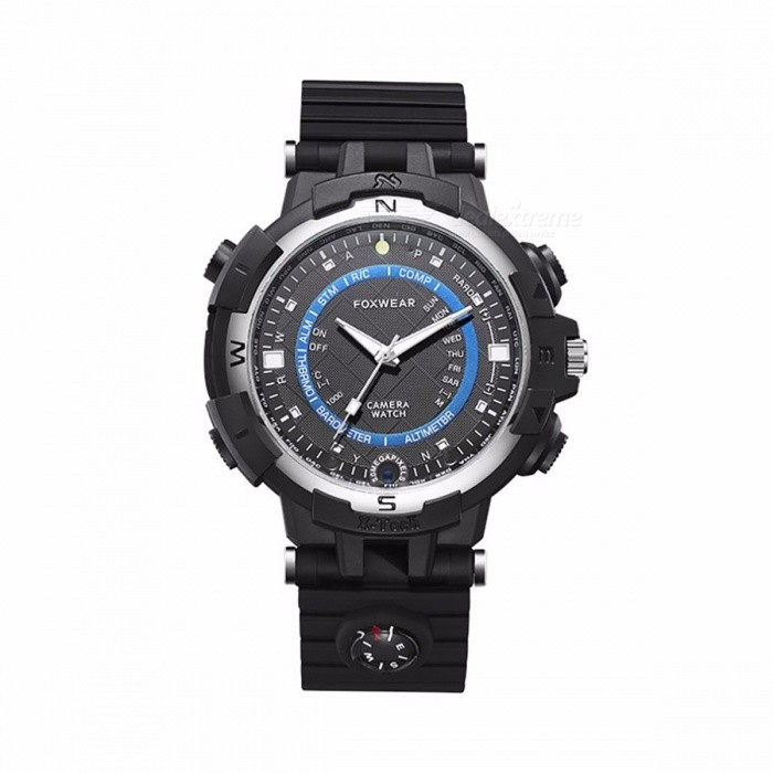 FOX8 IP65 Waterproof Wi-Fi APP Control LED Smart Watch with HD 264 IR Night Vision, 32GB Memory - BlackSmart Watches<br>Form  ColorBlackModelFOX8Quantity1 setMaterialPlastic shellShade Of ColorBlackCPU ProcessorAK3918EScreen SizeNo inchScreen ResolutionNoTouch Screen TypeNoBluetooth VersionNoCompatible OSAndroid and apple systemsLanguageChinese EnglishWristband Length26.5 cmWater-proofIP65Battery ModeNon-removableBattery TypeOthers,353030Battery Capacity360 mAhStandby Time3 hoursPacking List1 x Smart Watch1 x Specification1 x Data Cable<br>