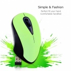 2.4GHz 3 Buttons Wireless Cordless Ergonomic Optical Mouse for Laptop PC Computer - Green