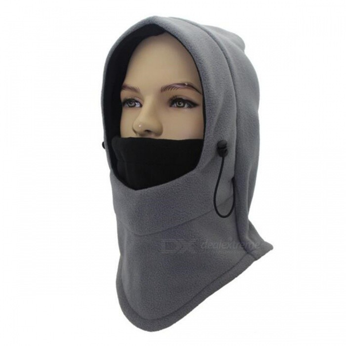 Outdoor Multifunctional Double Fleece Unisex Windproof Face Mask Cap - Gray + BlackForm  ColorGrey + BlackSizeFree SizeModelB11143Quantity1 DX.PCM.Model.AttributeModel.UnitMaterialAcrylicShade Of ColorGraySeasonsAutumn and WinterGenderUnisexHead Circumference56 DX.PCM.Model.AttributeModel.UnitBest UseRunning,Climbing,Travel,Cycling,Others,stroll about.skiing.shoppingPacking List1 x Multifunctional headgear<br>