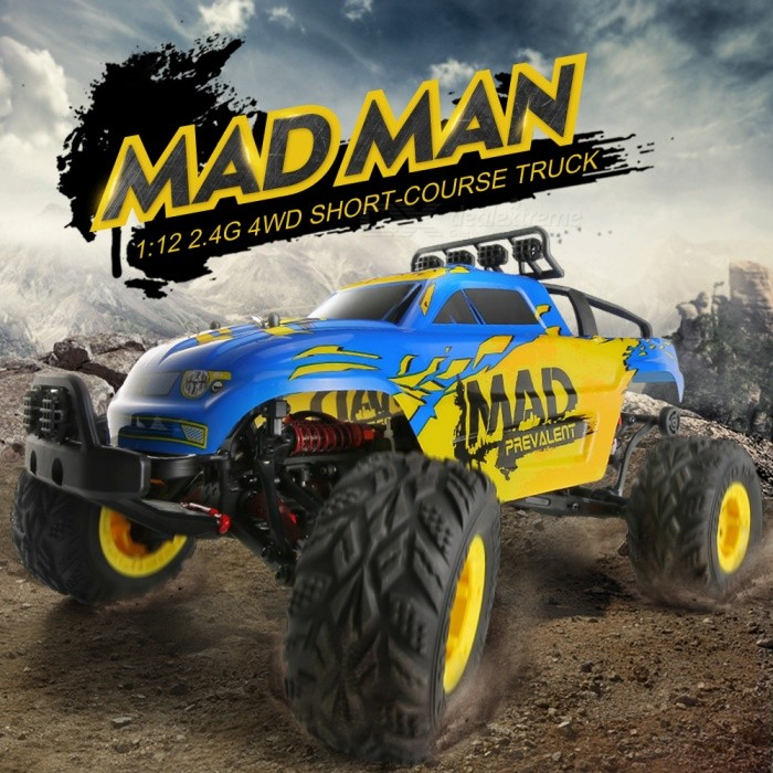 JJRC Q40 Mad Man 1:12 Full Scale 2.4G 4WD Short-course Truck RC Car RTRR/C Airplanes&amp;Quadcopters<br>Form  ColorSapphire BlueModelQ40MaterialABSQuantity1 DX.PCM.Model.AttributeModel.UnitShade Of ColorBlueGyroscopeNoChannels QuanlityOthers,Car Type: Short-course Truck DX.PCM.Model.AttributeModel.UnitFunctionOthers,Car Type: Short-course TruckRemote TypeRadio ControlRemote control frequency2.4GHzRemote Control RangeAbout 80 DX.PCM.Model.AttributeModel.UnitSuitable Age 9-12 months,13-24 months,12-15 years,Grown upsCameraNoCamera PixelNoLamp NoBattery TypeLi-ion batteryBattery Capacity7.4V 1500 DX.PCM.Model.AttributeModel.UnitCharging TimeAbout 2.5 DX.PCM.Model.AttributeModel.UnitWorking TimeAbout 15 DX.PCM.Model.AttributeModel.UnitRemote Controller Battery TypeAARemote Controller Battery Number4 X 1.5V AA(Not Included)Remote Control TypeWirelessModelMode 2 (Left Throttle Hand)CertificationCEPacking List1 x RC Car (Battery Included)1 x Transmitter1 x Charger2 x Wrenchs 1 x Screwdriver 1 x Cross Sleeve2 x R-shaped Pins 2 x Gears1 x M3 Screw 1 x English Manual<br>