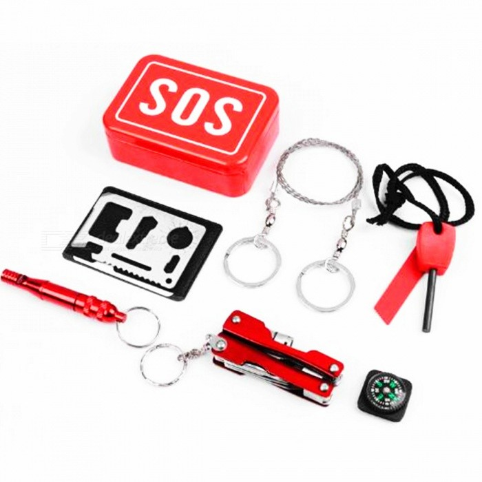 SOS Outdoor Multifunctional Tool Box for Survival