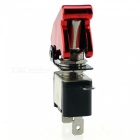 IZTOSS S2771 12V 20A Car Ignition Button Switch with Air Cover, Indicator Light - Red