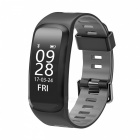 No.1 F4 IP68 Waterproof Smart Bracelet with Blood Pressure Heart Rate Monitor - Gray
