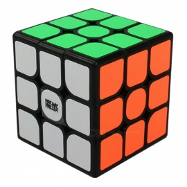 . moyu dianma 57mm 3x3x3 velocidade lisa magic cube puzzle toy - black