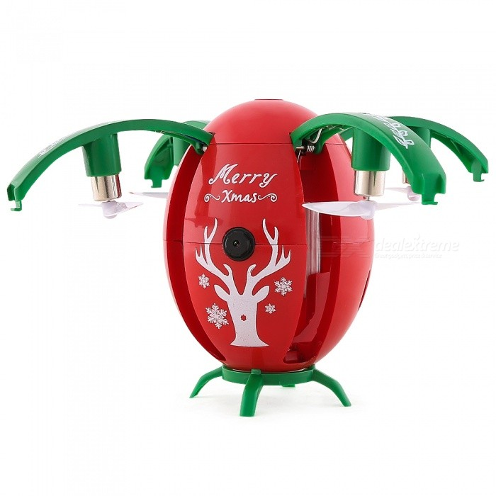 JJRC H66 Xmas Egg 720P Wi-Fi FPV Selfie RC Drone with Gravity Sensor, Altitude Hold Mode - RedR/C Airplanes&amp;Quadcopters<br>Form  ColorBlack RedModelH66MaterialABSQuantity1 setShade Of ColorBlackGyroscopeYesChannels Quanlity4 channelFunctionUp,Down,Left,Right,Forward,Backward,Stop,Hovering,Sideward flightRemote TypeRadio ControlRemote control frequency2.4GHzRemote Control RangeR/C Distance: About 50m FPV Distance: About 30 mSuitable Age 13-24 months,12-15 years,Grown upsCameraYesCamera PixelOthers,WIFI 720PLamp YesBattery TypeLi-ion batteryBattery Capacity3.7V 300 mAhCharging Time45 minutesWorking Time6 minutesRemote Controller Battery TypeAAARemote Controller Battery Number2 X AAA 1.5V(Not Included)Remote Control TypeWirelessModelMode 2 (Left Throttle Hand)CertificationCEPacking List1 x JJRC H66 RC Quadcopter (Built-in 720P HD Camera)1 x Transmitter1 x 3.7V 300mAh Li-po Battery (Built-in)1 x USB Cable4 x Propellers1 x Door1 x Manual<br>