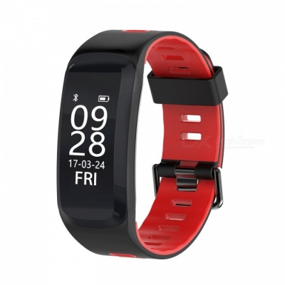 No.1 F4 IP68 Waterproof Smart Bracelet with Blood Pressure Heart Rate Monitor - Red
