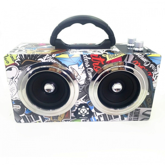 M8 Graffiti Pattern Multi-function Bluetooth Loudspeaker Hi-Fi Box Portable Cool Street Hip Hop Stereo Wooden Speaker - US PlugBluetooth Speakers<br>Form  ColorMulticolorModelM8MaterialWood + circuit boardQuantity1 DX.PCM.Model.AttributeModel.UnitShade Of ColorMulti-colorBluetooth HandsfreeYesBluetooth ChipCSR V4.0+EDRBluetooth VersionBluetooth V4.0Operating Range30 metersTotal Power10w+10 DX.PCM.Model.AttributeModel.UnitChannels2.0Interface3.5mm,USB 2.0MicrophoneYesSNR75dBSensitivity85dbFrequency Response90HZ-22khzImpedance4 DX.PCM.Model.AttributeModel.UnitApplicable ProductsIPHONE 5,IPHONE 4,IPHONE 4S,IPHONE 3G,IPOD,IPAD,Others,IPHONE 5S,IPHONE 5C,iphon 6 6s 6Plus more than Android2.1 and bluetooth2.1 of the higher versionRadio TunerYesSupports Card TypeMicroSD (TF)Max Extended Capacity32GBBuilt-in Battery Capacity 5200 DX.PCM.Model.AttributeModel.UnitBattery Type18650Music Play Time6 DX.PCM.Model.AttributeModel.UnitPower AdapterUS PlugPower Supply9v 2ACertificationFC CE ROHSPacking List1 x Bluetooth Speaker1 x Power adapter1 x 3.5mm Audio cable1 x Manual<br>