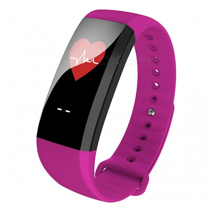 M99 Color Screen Smart Bracelet with Real-time Heart Rate Monitor - PurpleSmart Bracelets<br>Form  ColorPurple + BlackModelM99Quantity1 DX.PCM.Model.AttributeModel.UnitMaterialABSShade Of ColorPurpleWater-proofIP67Bluetooth VersionBluetooth V4.0Touch Screen TypeYesCompatible OSAndroid system 4.4 version or above ;iOS system 8.0 version or above ;Support  bluetooth with 4.0 versionBattery Capacity90 DX.PCM.Model.AttributeModel.UnitBattery TypeLi-polymer batteryStandby Time5-7 DX.PCM.Model.AttributeModel.UnitPacking List1 x Smart Band1 x User manual<br>