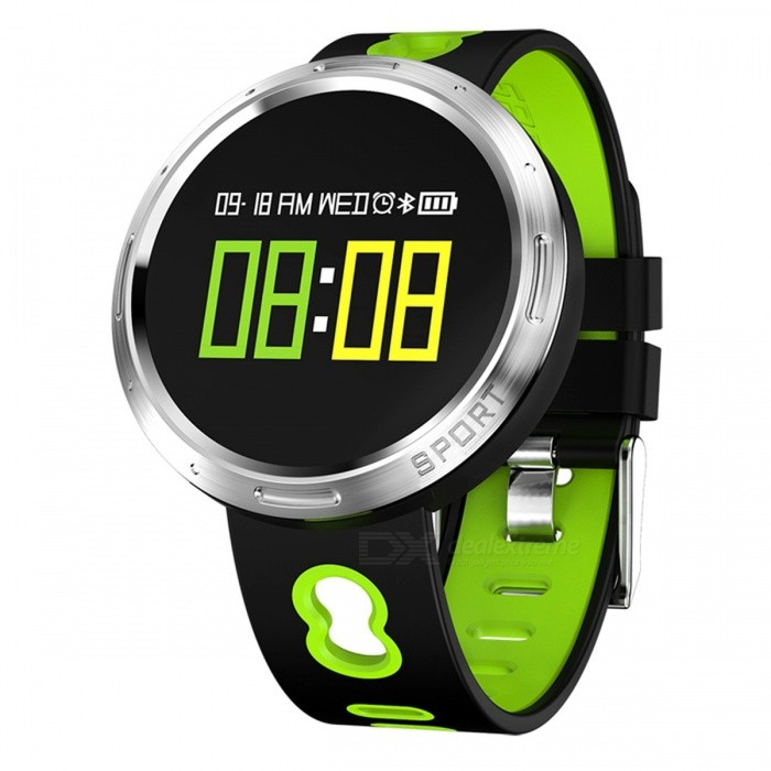 X9VO 0.95 Color Screen Smart Bracelet with Heart Rate Blood Pressure Monitor - GreenSmart Bracelets<br>Form  ColorGreen + Black + Multi-ColoredModelX9VOQuantity1 DX.PCM.Model.AttributeModel.UnitMaterialABSShade Of ColorGreenWater-proofIP68Bluetooth VersionBluetooth V4.0Touch Screen TypeYesCompatible OSAndroid system 4.4 version or above ;iOS system 8.0 version or above ;Support  bluetooth with 4.0 versionBattery Capacity105 DX.PCM.Model.AttributeModel.UnitBattery TypeLi-polymer batteryStandby Time5-7 DX.PCM.Model.AttributeModel.UnitPacking List1 x Smart Bracelet1 x USB Cable1 x User Manual<br>