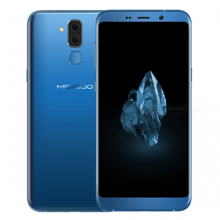 "MEIIGOO S8 Android 7.0 4G Phone w/ 4GB RAM 64GB ROM, 6.1"" FHD, Dual SIM, Octa-Core, Dual Camera, 3300mAh Battery - Blue"