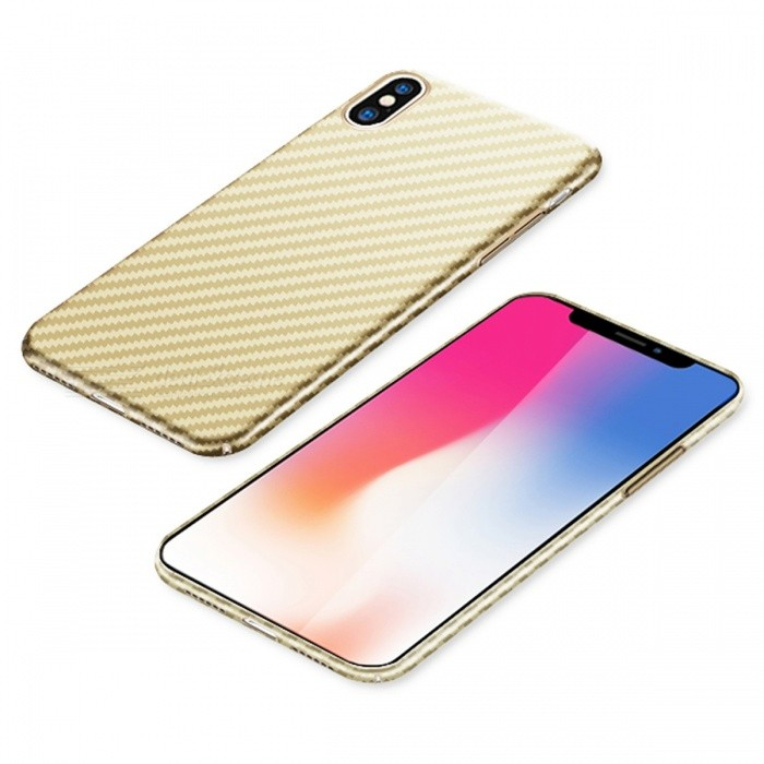Naxtop PC Hard Protective Back Case for Apple IPHONE - GoldenPlastic Cases<br>Form  ColorGoldenModelN/AQuantity1 DX.PCM.Model.AttributeModel.UnitMaterialPCCompatible ModelsiPhone XDesignSolid ColorStyleBack CasesPacking List1 x Case<br>