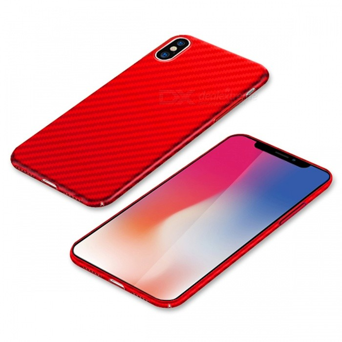 Naxtop PC Hard Protective Back Case for Apple IPHONE X - RedPlastic Cases<br>Form  ColorRedModelN/AQuantity1 DX.PCM.Model.AttributeModel.UnitMaterialPCCompatible ModelsiPhone XDesignSolid ColorStyleBack CasesPacking List1 x Case<br>