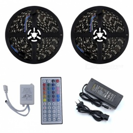 ZHAOYAO Waterproof 144W RGB 5050 SMD 600-LED Strip Light with 10A US Plug Power Adapter + 44 Keys Remote Controller