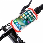 Anti-Drop Bicycle Mount Silicone Phone Holder for 4-6 Inch Phones - Red