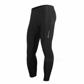 NUCKILY Summer Elastic Cycling Pants with Silicone Cushion - Black