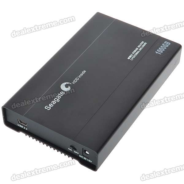 Seagate USB 2.0 Mobile External Hard Drive Storage Device (1000GB/1TB)