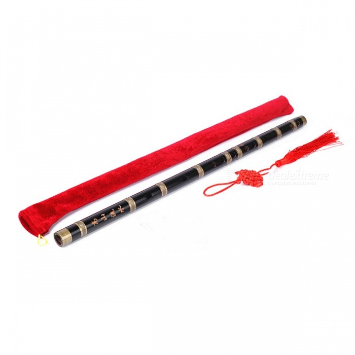 Professional Refined Bamboo Flute for Beginner - BlackMusical Instruments<br>Form  ColorBlack + MulticolorMaterialBambooQuantity1 pieceShade Of ColorBlackInstrument TypeOthers,Bamboo fluteInstrument Size43.5 cmPacking List1 x Flute1 x Protective bag<br>