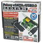 Power Over eSATA + USB 2.0 AHCI Adapter Card with Data Cables (3.0Gbps Speed)