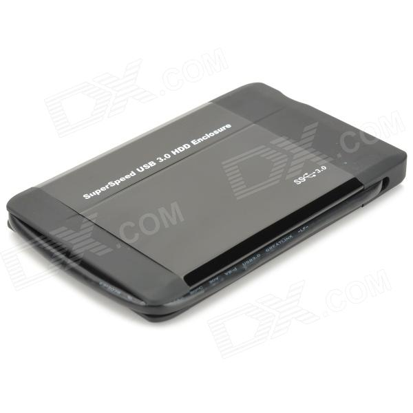 "USB 3.0 2.5"" SATA HDD Enclosure with Leather Pouch - Black (Super-Speed 5Gbps)"