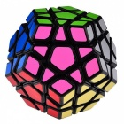 YJ YuHu 33x33x67mm Megaminx Smooth Speed Magic Cube Puzzle Toy - Black
