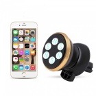 ZHAOYAO Car Air Vent Outlet 360 Degree Rotating Magnetic Phone Stand Holder - Golden