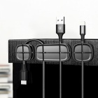 Buy Baseus Car Winder Flexible Silicone USB Cable Organizer Wire Cord Management Clip Holder Mouse Headphone Earphone - Black