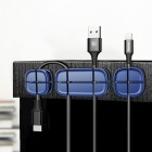Buy Baseus Car Winder Flexible Silicone USB Cable Organizer Wire Cord Management Clip Holder Mouse Earphone - Dark Blue