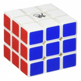 DaYan GuHong Speed Cube 3x3 Smooth Magic Cube Puzzles Toy 57mm Brain Teaser Educational Toy for Kids - White
