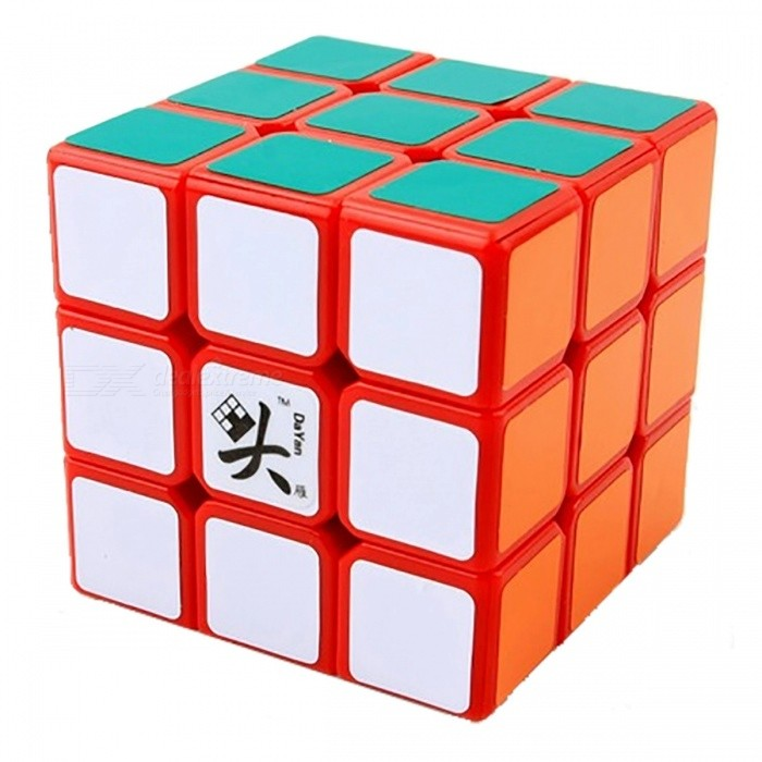 DaYan LingYun Speed Cube 3x3 Smooth Magic Cube Puzzles Toy 56mm Brain Teaser Educational Toy for Kids - Orange