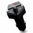 APE6 Car GPS Positioning Bluetooth MP3 Player, Dual USB Charger with LCD Display - Black