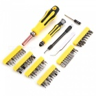 AC-81 62-Piece Portable Screwdriver Tool Kit with Storage Box - Yellow