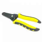 "Portable 7"" Cold-rolled Plate 7-Size Wire Stripper Pliers - Black + Yellow"