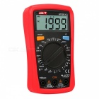 UNI-T UT33C+ Portable Digital Multimeter with Backlight Function - Red + Black (2 x 1.5AAA Batteries)