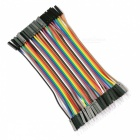 Male to Female 40-Pin DuPont Wire Jump Wire Cable Line for Electronic DIY - Multicolor (10CM / 40PCS)