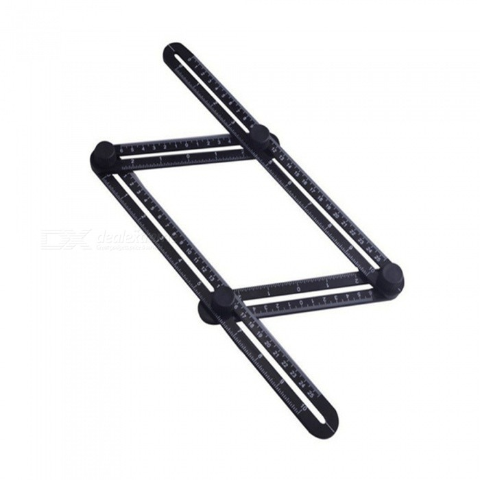 Multifuction Foldable Movable Activities Metric Inch Scale Measuring Angle Ruler - Black (25CM / 9.8)Other Measuring &amp; Analysing Instruments<br>Form  ColorBlackModelSZ25Quantity1 DX.PCM.Model.AttributeModel.UnitMaterialABSScreen SizeN/A DX.PCM.Model.AttributeModel.UnitBattery included or notNoOther FeaturesSize:25cm/9.8 inchesPacking List1 x Multifunctional ruler<br>