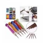 5-in-1 Precision Mini Magnetic Screwdriver Torx Repair Tool Kit Set with Five Replacement Tips Heads - Purple