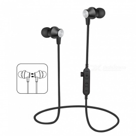 Bluetooth V4.2 Headphones In-Ear Wireless Earbuds Magnetic Sweatproof Stereo Earphones with Microphone for Sport - Red