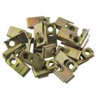 CARKING 20Pcs Spring Metal Plate U-Type Clips Speed Nuts M6 for Car Panel Fender