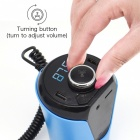 Bluetooth Hands Free Car Kit FM Transmitter MP3 Player with Dual USB Charger / LED Display - Blue + Black