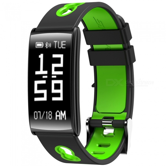 N109 Lightweight Bluetooth Smart Bracelet with Blood Pressure Heart Rate Monitor - Green