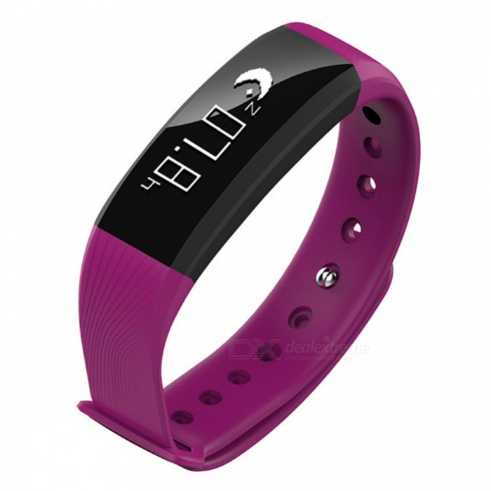 M89 Bluetooth Smart Bracelet with Blood Pressure Heart Rate Monitor - PurpleSmart Bracelets<br>Form  ColorPurple + BlackModelM89Quantity1 setMaterialABSShade Of ColorPurpleWater-proofIP67Bluetooth VersionBluetooth V4.0Touch Screen TypeYesCompatible OSAndroid 4.4 and above or iOS 8.0 and aboveBattery Capacity90 mAhBattery TypeLi-polymer batteryStandby Time5-7 daysPacking List1 x M89 Fitness bracelet1 x English User Manual1 x Charging base<br>