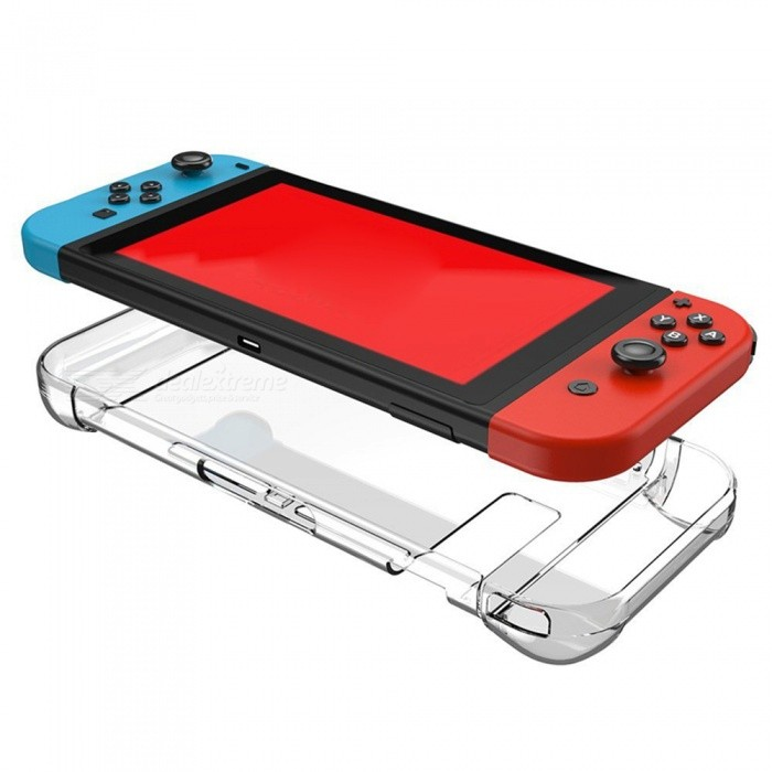 Transparent Anti-Scratch Hard Back Cover Case for Nintendo Switch 2017Cases &amp; Pouches<br>Form  ColorTransparentModelNintendo Switch 2017Quantity1 DX.PCM.Model.AttributeModel.UnitMaterialPolycarbonateShade Of ColorTransparentCompatible ModelsOthers,Nintendo Switch 2017Packing List1 x Hard Back Case for Nintendo Switch 2017<br>